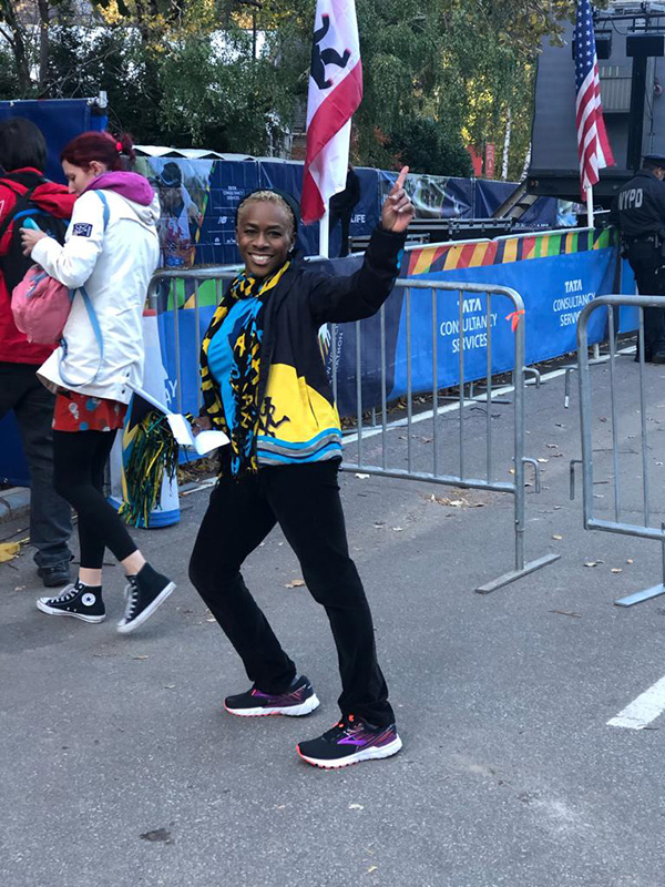 Linda Williams at NY Marathon
